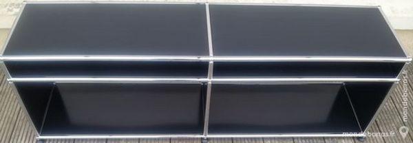 Meuble tv/hifi usm haller noir graphite à 4 cases 695 Chenoise (77)