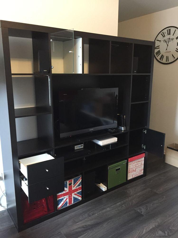 Meuble Mur Tv Ikea 185x185 Bonetat