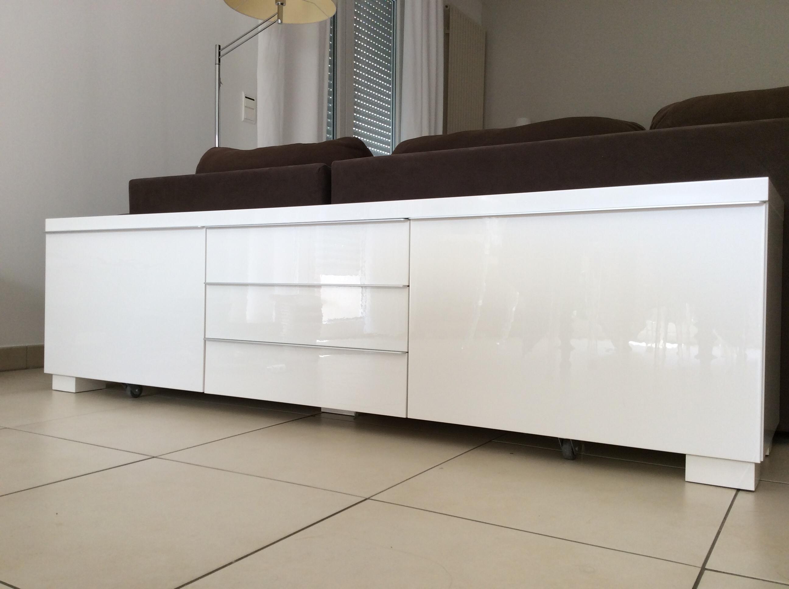 Ikea Meuble Blanc Laqué meuble ikéa tv besta burs laqué blanc