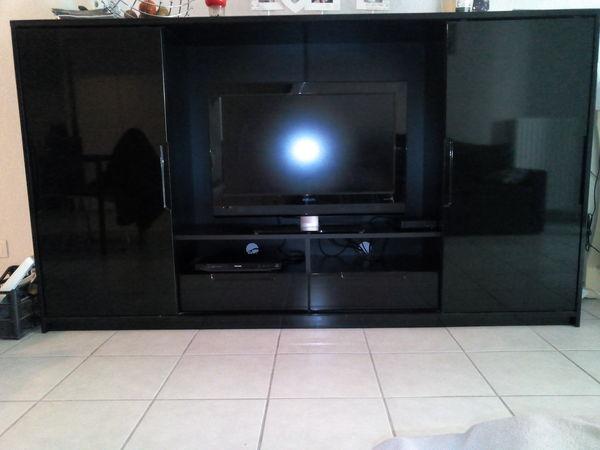 meuble living noir et brillant 250 Sète (34)