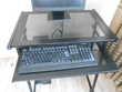Meuble en métal noir pour ordinateur TBE Meubles