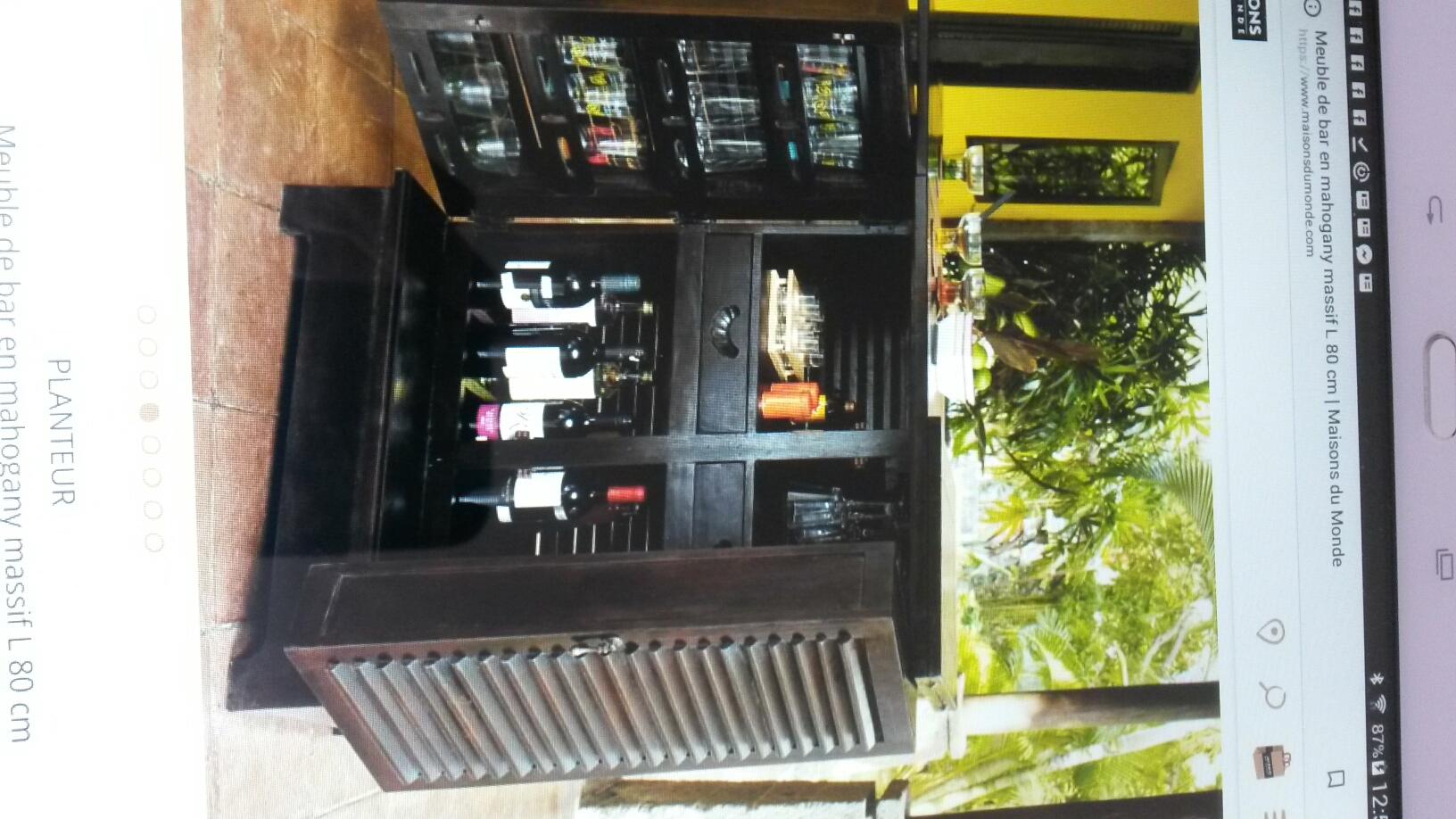cheap bar meuble planteur with maisons du monde lille. Black Bedroom Furniture Sets. Home Design Ideas