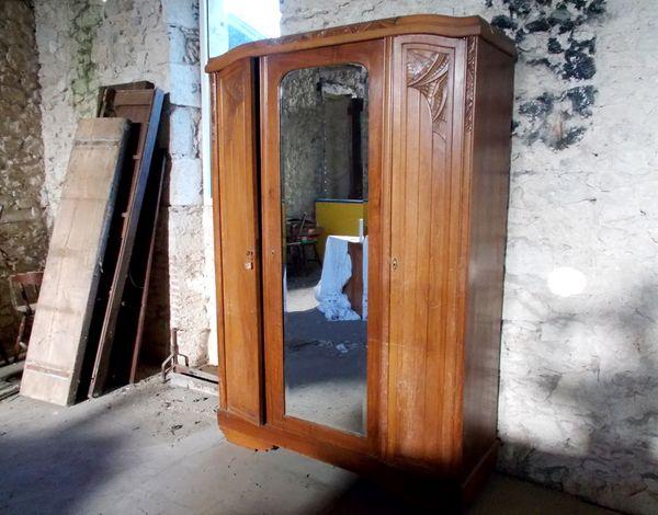 meuble de rangement armoire en bois art déco 1930 450 Monflanquin (47)