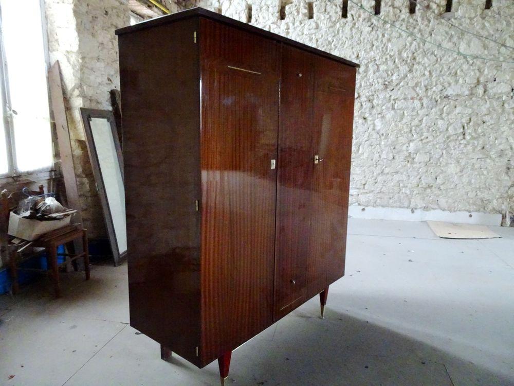 Meuble de rangement armoire penderie bois laqué 1960 70 Monflanquin (47)