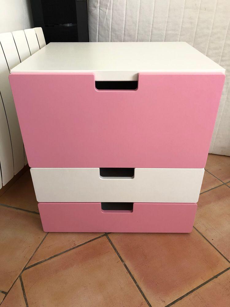 Meuble rangement IKEA Blanc/rose 20 Villeneuve-lès-Avignon (30)