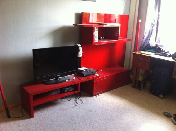 Achetez meuble t v rouge occasion annonce vente for Meuble tv rouge but