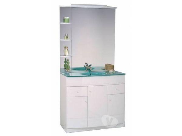 Meuble de salle de bain avec colonne 100 Roanne (42)