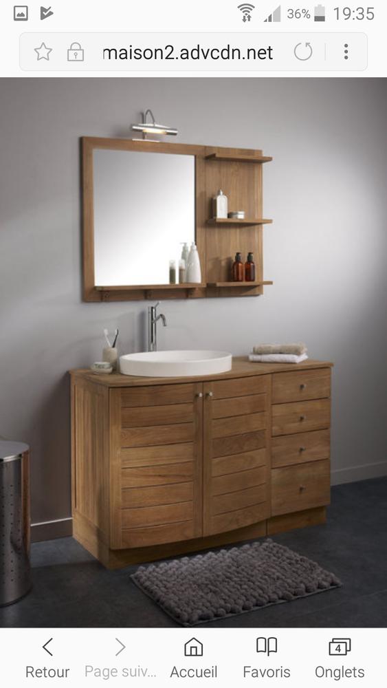 Meuble de salle de bain teck naturel Wellington marron 0 Canéjan (33)