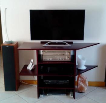Meuble de salon, pour TV écran plat, Hifi, stylé haut de gam Photos/Video/TV