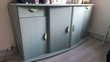 Meuble de salon vert 2 tiroirs 4 portes