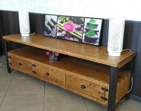 Achetez meuble tv style quasi neuf, annonce vente à Ginestet (24 ...