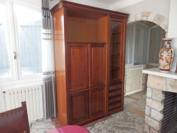 meuble télé et bibliothèque merisier 290 Lamothe-Capdeville (82)