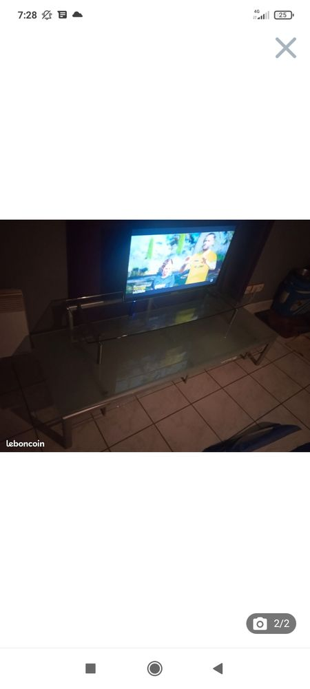 meuble télé en verre 100 Rouen (76)