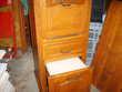 meuble télephone  bois  siège incorporé