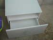 Meuble tiroir blanc + Verre trempé opaque N° 640