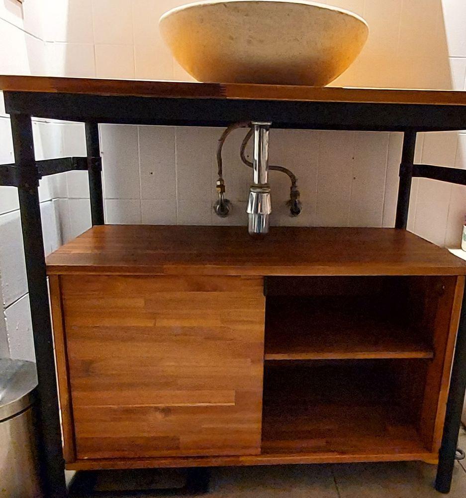 Meuble vasque en bois d'acacia  180 Nice (06)