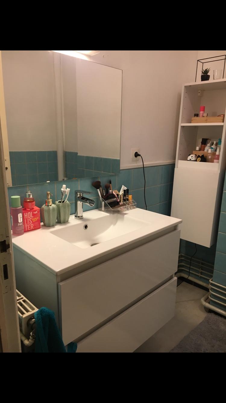 Meuble vasque , robinetterie et meuble suspendu  80 Malo Les Bains (59)