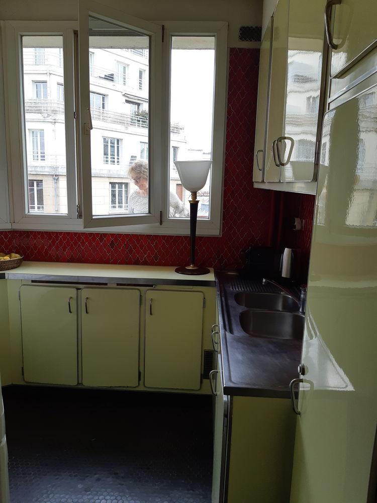meubles de cuisine vintage , formica jaune, interieur bois,  0 Paris (75)