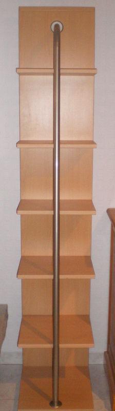 2 meubles étagères bibliothèque en bois imitation hêtre  50 Trélivan (22)