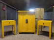 4 meubles jaunes  CHINA POP   MAISON DU MONDE Noisiel (77)