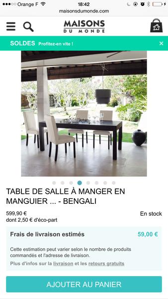 Achetez meubles maison du occasion annonce vente for Petit meuble maison du monde
