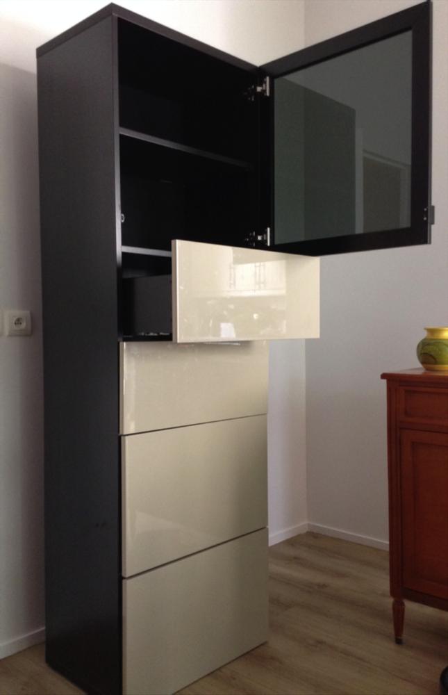 2 meubles de rangement - Porte vitrée teintée  200 Argenteuil (95)