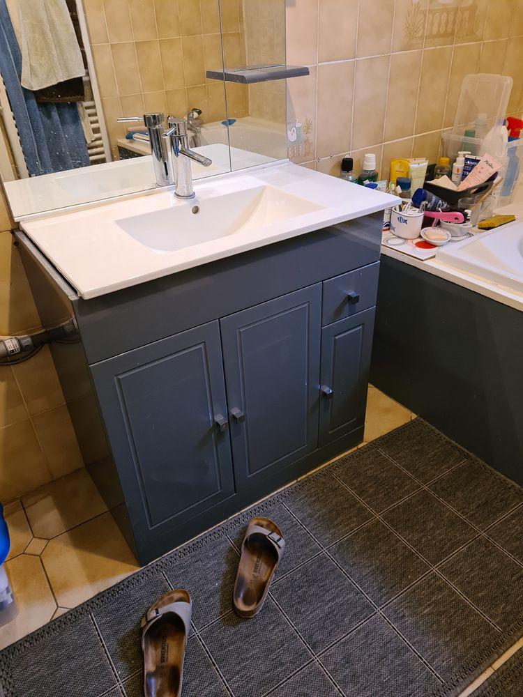 2 Meubles de salle de bain identiques 0 Pertuis (84)