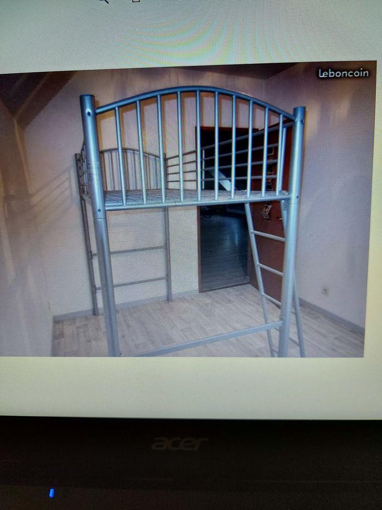 Lit mezzanine avec échelle  200 Sarrancolin (65)