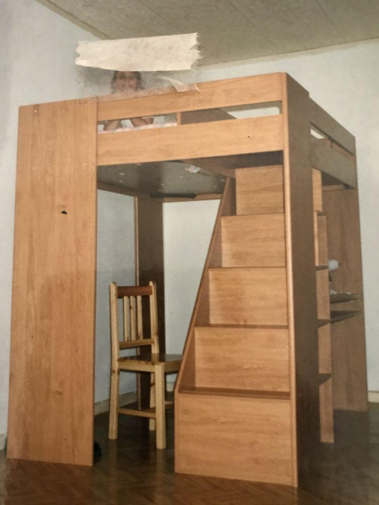 Lit Mezzanine Avec Escalier Et Bureau Integre