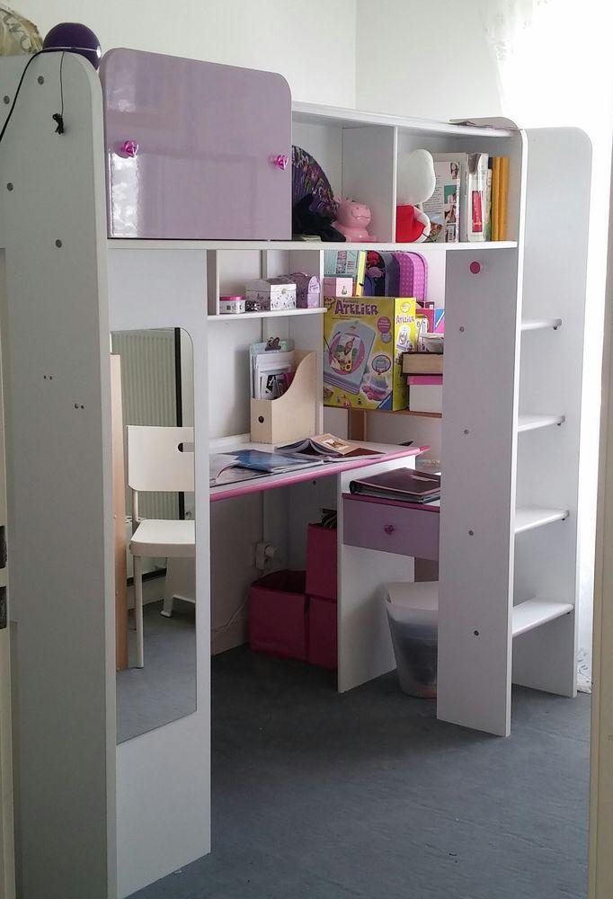 Lit mezzanine fille bureau - Lit mezzanine bureau fille ...