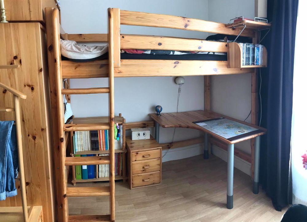 Lit mezzanine + bureau + armoire  400 Fontenay-aux-Roses (92)