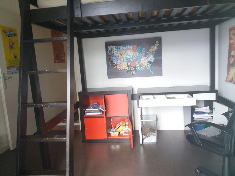 lit mezzanine,  bureau, etagères ikea 100 Quessoy (22)