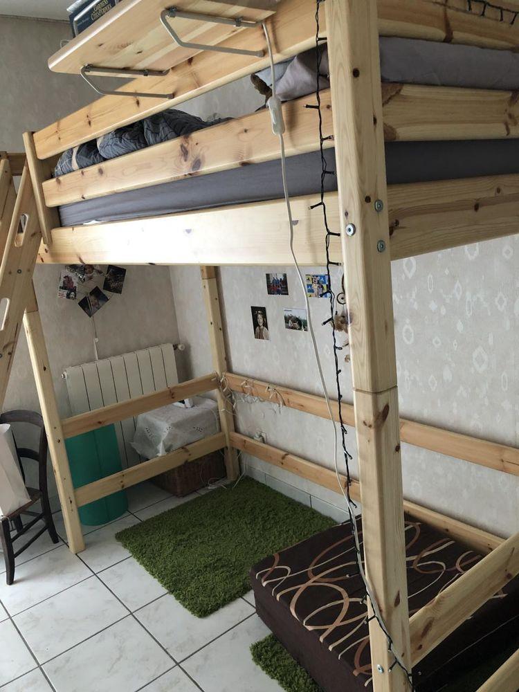Lit mezzanine évolutif 1 place Flexa état neuf 190 Toulouse (31)