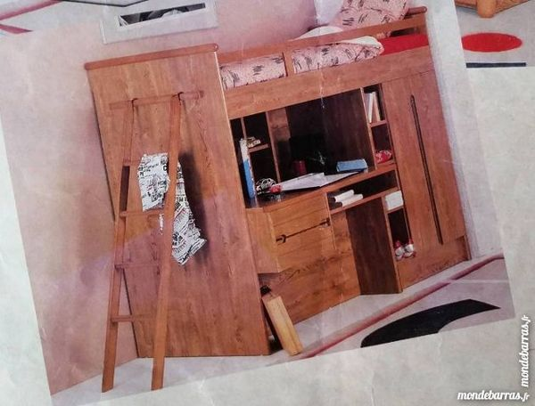 lits mezzanine occasion dans le nord pas de calais annonces achat et vente de lits mezzanine. Black Bedroom Furniture Sets. Home Design Ideas
