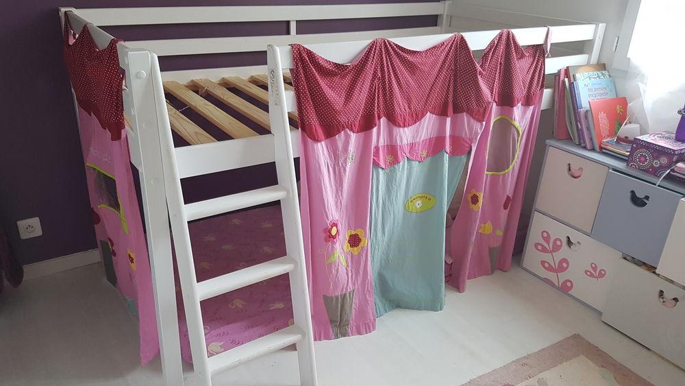 Lit mezzanine mi-hauteur enfant 90 Cadours (31)