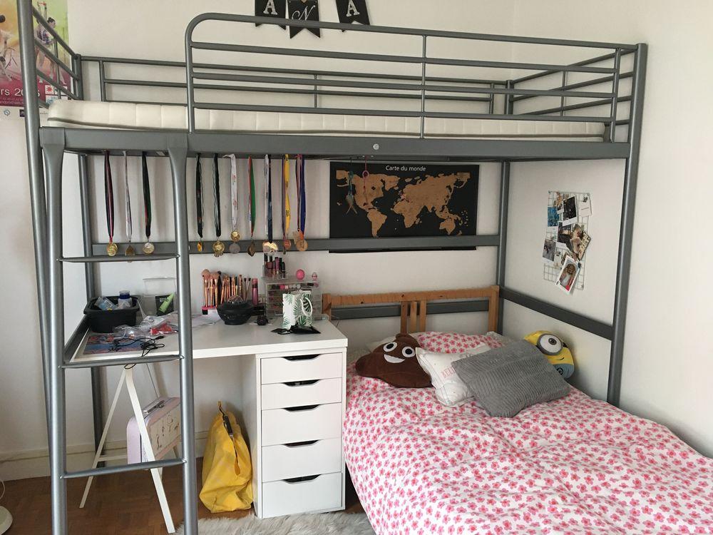 LIT MEZZANINE IKEA 90x200 60 Saint-Germain-en-Laye (78)
