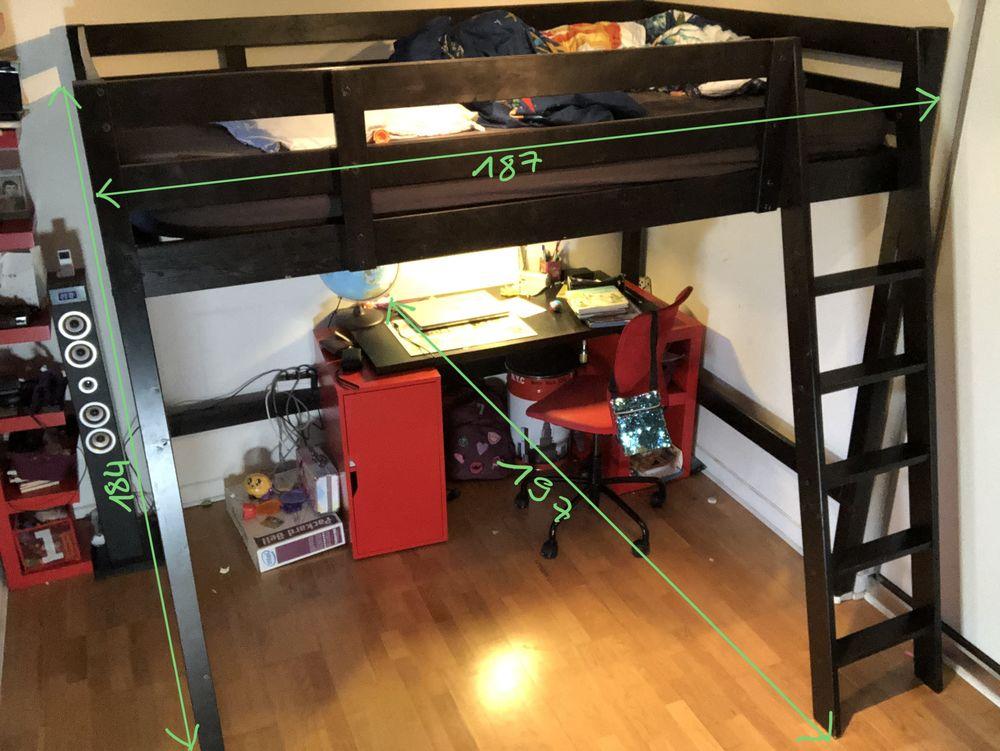 Mezzanine IKEA STORÅ 2 places + bureau 50 Le Plessis-Trévise (94)