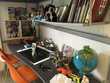 Lit Mezzanine IKEA Svärta + bureau + étagère + matelas Meubles