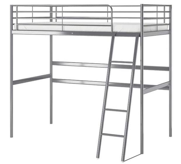 Lit mezzanine IKEA Svarta couleur argent Meubles