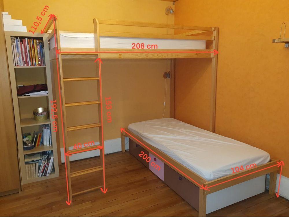 Mezzanine 2 lits (marque Vibel) - très bon état  270 Neuilly-sur-Seine (92)
