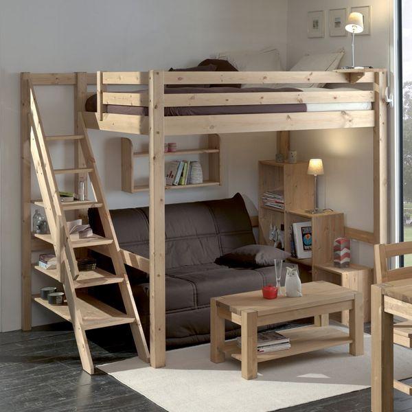 Achetez lit mezzanine loft 2 occasion annonce vente - Lit mezzanine blanc 2 places ...