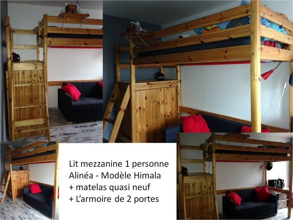 mezzanine avec plateforme alinea. Black Bedroom Furniture Sets. Home Design Ideas