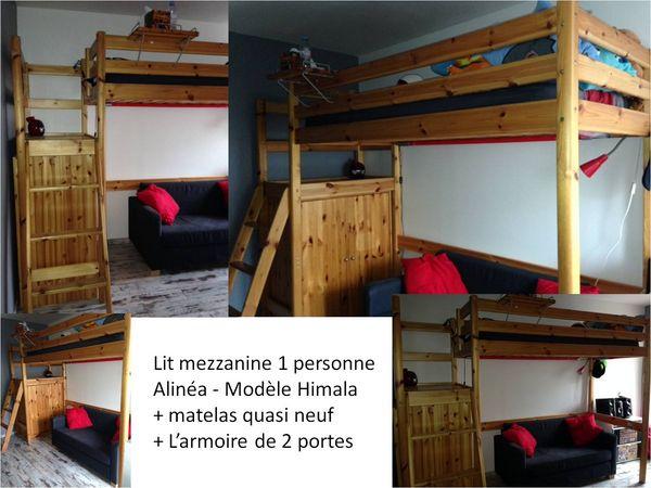 Achetez lit mezzanine 1 occasion annonce vente sartrouville 78 wb149926909 - Lit mezzanine alinea ...