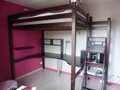 Lit mezzanine 2 personnes avec bureau 0 Paris 14 (75)