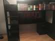 Lit mezzanine une place avec bureau et rangements. Meubles