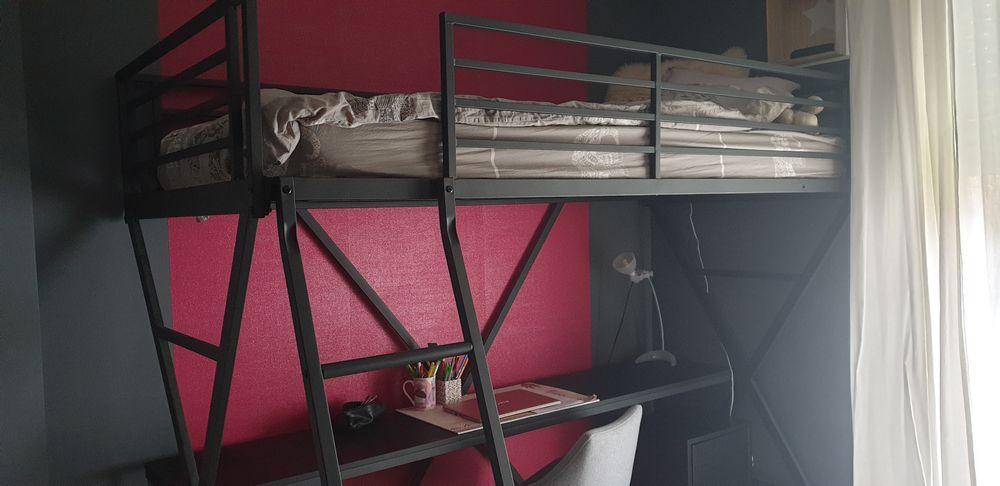 Lit mezzanine 1 place avec bureau Alinea  120 Herblay (95)