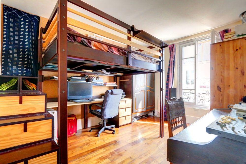 Mezzanine suréquipée 150-190 Espace Loggia Bois massif, Bure 1995 Paris 13 (75)
