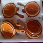 4 mini poêlons en céramique. 12 Paris 19 (75)
