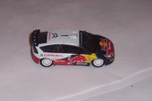 Miniature automobile- CITROEN C4 WRC-RED BULL 1/43 - NOREV 2 Genilac (42)