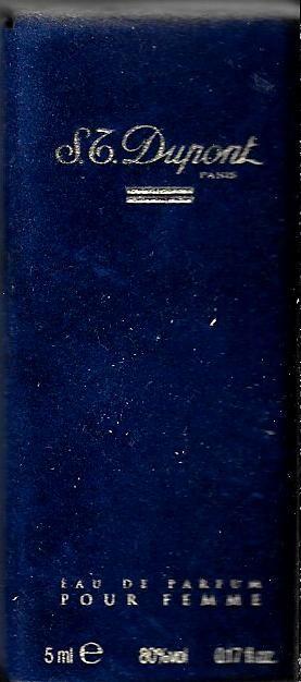 Miniature S.T. Dupont eau de parfum pour femme 5ml 0 Richwiller (68)